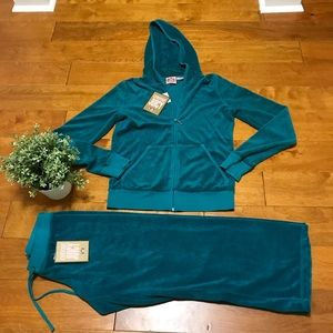 Juicy Couture terry hoodie and pant M/L